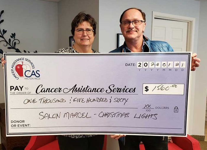 Salon Marcel donates $1,560 to CAShh